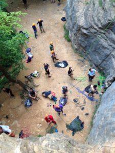 Sortie escalade à Curis aux Monts d'Or avec le BEM de Lyon